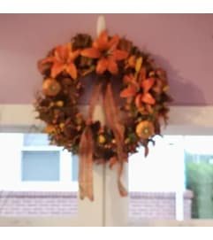 Fall Wreath #1- Permanent Botanical(Silk)