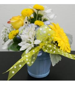 Baby Boy Pail Bouquet
