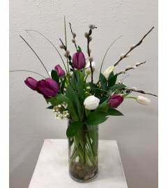 Spring Tulips in Cylinder