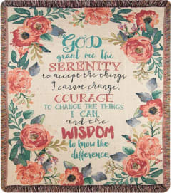 Serenity Prayer Afghan/Throw