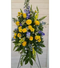 Blue and Yellow Standing Spray