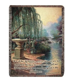 The Hour of Prayer Tapestry Throw