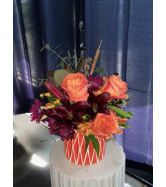 Florist's Choice Fall Arrangement in Vase