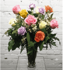 1 Dozen Mixed Roses