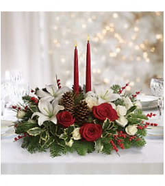 Christmas Wishes Centerpiece Bouq