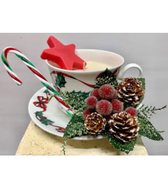 Christmas Cheer Teacup Candle