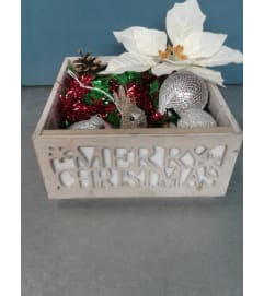 Merry Christmas Home Decor Box