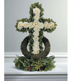 White Rose-Accented Cross