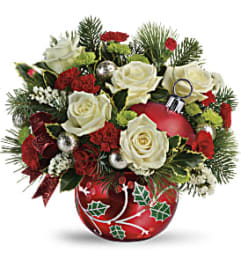 Classic Holly ornament Bouquet by Teleflora