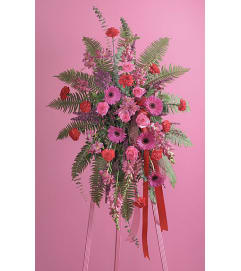 Fuchsia and Red Standing Spray