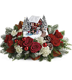 Thomas Kinkade's Snowfall Dreams Bouquet by Teleflora