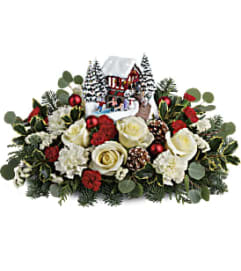 Teleflora's Thomas Kinkade's Christmas Bridge Bouquet