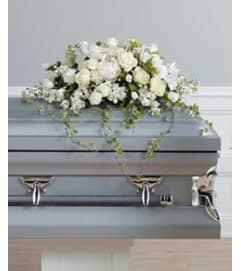 White Casket Spray 1