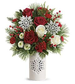 Flurry of Elegance Red & White
