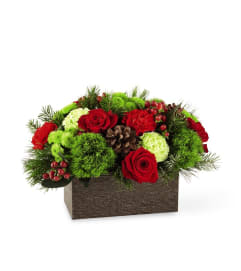 Christmas Log Cabin Bouquet