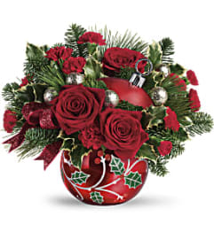Teleflora Deck the Holly Ornament Bouquet