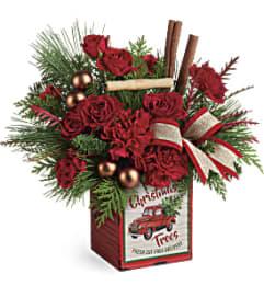 Teleflora Merry Vintage Christmas Bouq.