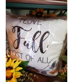 I love fall pillow