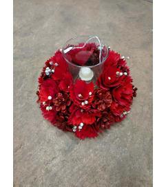 Redwood Rose Candle Holder