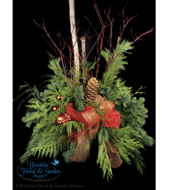 Outdoor Winter Urn With Birch