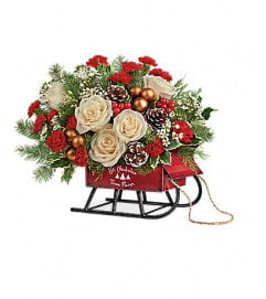 Saint Nicholas Tree Farm Sleigh Bouquet