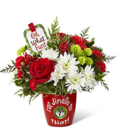 Oh What Fun, I'll Jingle to That! Christmas Bouquet