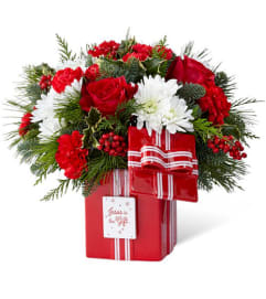 Jesus is the Gift of Christmas Bouquet