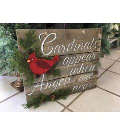 Wooden Cardinal Sign