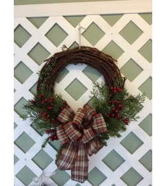 Wood Cedar Wreath