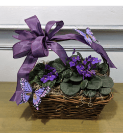Pretty Purple Violet Basket
