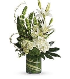 Botanical Beauty with White Roses