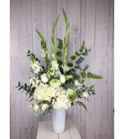 White Flower  With White Roses