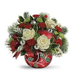 Teleflora HOLLY HOLIDAYS ORNAMENT