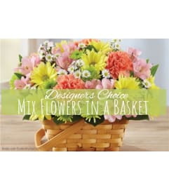 Garden Galore In A Basket Florist Design