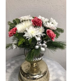 Silver Snow Bells Arrangement