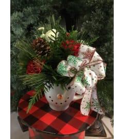 Snowman Mug Arrangement