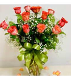 Premium Orange Dozen Roses