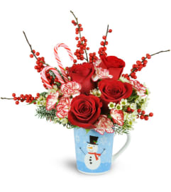Holiday Hug in a Mug with Roses