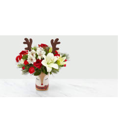 THE FTD SHINE BRIGHT CHRISTMAS ARRANGEMENT