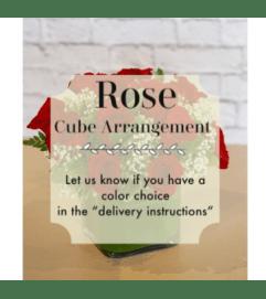 Cube Arrangement-Roses