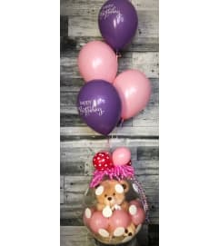 Stuffed Balloon w/ Teddy Bear