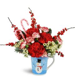 Holiday Hug in a Mug with Carnations