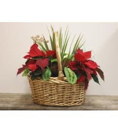 Christmas Willow Basket