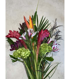 Pacifica Paradise Tropical Wrapped Bouquet