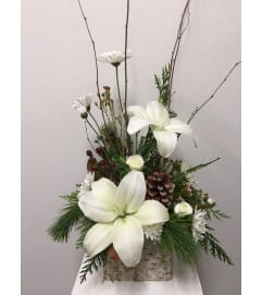Frosted Forest Birch Bouquet
