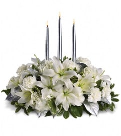Teleflora Silver Elegance Centerpiece by tcg