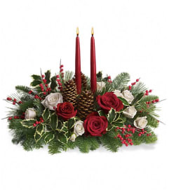 Tele Christmas Wishes Centerpiece by TCG