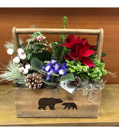 Beary Merry Christmas Planter