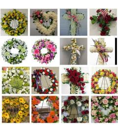 Custom Made Heart, Wreath & Cross