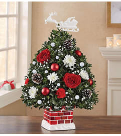 1800 Flowers inspired Decorated Boxwood Tree
